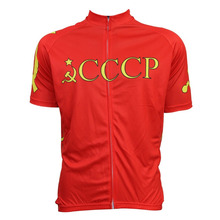 Bike top jersey Men CCCP cycling jersey RED short sleeve cycling clothing summer bicycle clothes mtb/road bike wear Customized c(China)