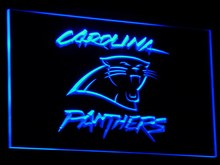 b066 Carolina Panthers Super Bowl Bar LED Neon Sign with On/Off Switch 7 Colors 4 Sizes to choose sent in 24 hrs(China)