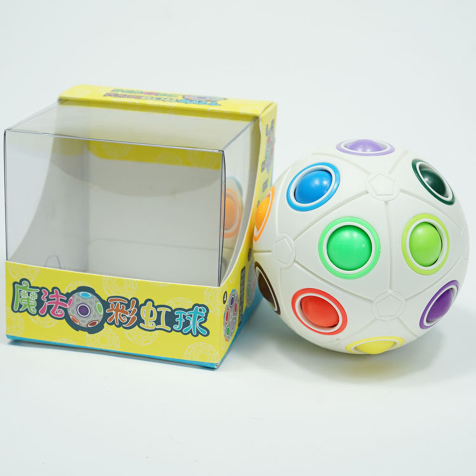 Moyu 8 Holes Rainbow Ball Puzzle Cube Magic Football Stress Fidget Toy for Kid