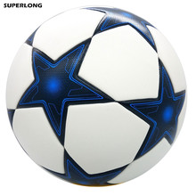 High quality Classic Champion League Official size 5 Football ball Seamless PU Soccer Ball competition train durable Football(China)