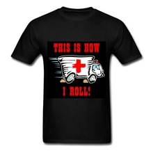 This is How I Roll Funny Ambulance T Shirts Novelty Design Digital Printed Short Sleeve T-Shirt Plus Size Custom Summer Tops(China)