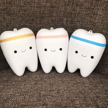 Slow Rebound Toy Anti Stress Toy Joke Slow Rising Kawaii Teeth Soft Squeeze Teeth And Jokes Stretchy Toy Gift(China)