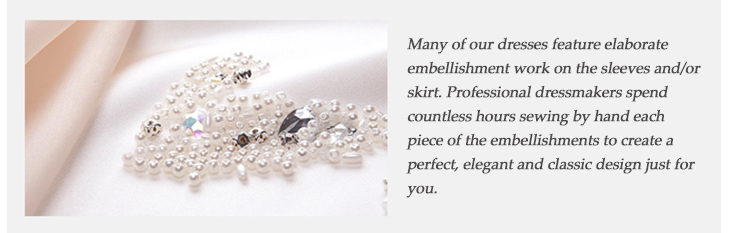 Learn More About This Product   Every dress is elaborate handmade for you.