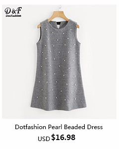 Dotfashion- Pearl Beaded Dress