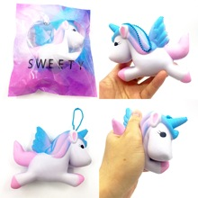 Original Kawaii Unicorn Squishy Jumbo Slow Rising Cute Phone Straps Pendant Soft Squeeze Bread Cake Scented Fun Kids Toy Gift