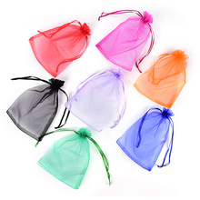 MENGXIANG 50pcs H Shape Organza Bag Jewelry Pouch Gift Bags Wedding Favors and Gifts Cheap Organza Pouches Decoration 18*13CM