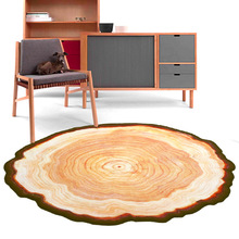 High Quality Floor Mat Office Chair Comfort Ancient Tree Rings Shaped Wood Color Doormat For Entrance Door Outdoor