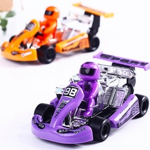 Hot Sale multicolor Children Kid Mini Running Vehicle Car Toy Plastic Inertia Racing Cars Cartoon Education Toys(China)