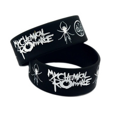 Fashion rock rubber wristband 1PC New Romance Punk Style Silicone Soft cheap spider balck silicone bracelet