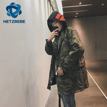 HETZBEBE Camo Jacket Hip Hop Suit Pullover Winter Jacket New Men Coat fashion men Casual jacekts Us size M L XL(China)