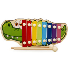 Rolling Knock On Piano Musical Toy With Beat Stick Baby Kids Wood Toddler Learning Fun Toy(China)