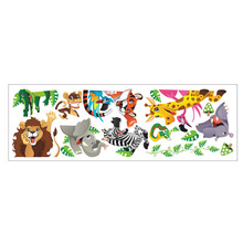 Cartoon Tiger Lion Dinosaur Wall Stickers Door Cabinet Switch Wall Decals Decoration Kids Boys Girls Infant Room Wall Graphics