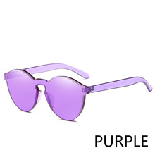 New One Piece Lens Sunglasses Women Transparent Plastic Glasses Men Style Sun Glasses Clear Candy Color Brand Designer(China)