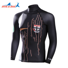 Men Lycra Rash Guard UV Swimming long sleeve Swim wetsuit Two Piece with skin diving pant for kitesurf windsurf surf clothes