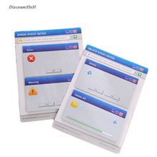 Cute Kawaii Sticker Computer System Shape Marker Memo Pad Flags Sticky Notes Office School Stationery Supplies(China)