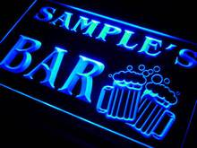 w-tm Name Personalized Custom Home Bar Beer Mugs Cheers Neon Sign with On/Off Switch 7 Colors 4 Sizes