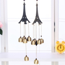 New 1PC Paris Eifel Tower Metal Aluminum Tubes Campanula Wind Bell Chimes Home Ornaments Bell Home Decoration Student Gift(China)