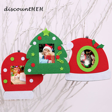 Fashion Merry Christmas Tree Gloves Hanging Photo Frame Decoration Christmas Picture Home Chirstmas Ornament(China)