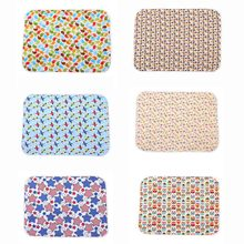 Newborn Baby Changing Pad Urinal Pad For Infant Child Print Bed Waterproof Cotton Cloth Changing Mat For Crib