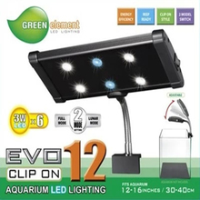 ODYSSEA GREEN ELEMENT EVO 12 Clip On Aquarium LED Lighting Marine Coral Reef Freshwater Plants LED Grow Light Fixture