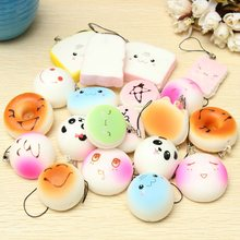20Pcs Beautiful Jumbo Medium Mini Mobile Phone Straps Random Soft Panda/Bread/Cake/Buns Phone Straps Cute Key Cool Boy Girl Gift