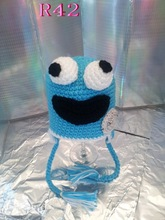 Sesame Street Crochet Hat Newborn Baby Hats Cookie Monster Hat Elmo Hat Caps for Boy Girl Photo Prop Halloween Gift Top quality(China)
