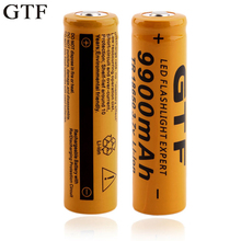 GTF 2pcs 18650 lithium battery 9900mAh lithium battery 3.7 V bright flashlight rechargeable Battery