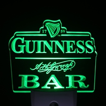 ws0194 Guinness Bar Beer Day/ Night Sensor Led Night Light Sign(China)
