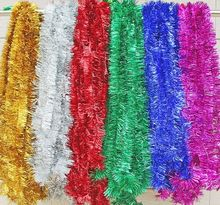 1 PCS 2 Meter Christmas Xmas Tree party Tinsel Rose Pink Green Silver Gold Red Blue Decorations(China)