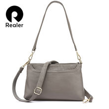 REALER brand women shoulder bag famale genuine leather handbag purse small crossbody bag