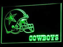 b317 Dallas Cowboys Helmet Neon Signs Led Signs with On/Off Switch 7 Colors 4 Sizes or Multi Color with Remote Control