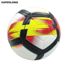 Top quality 2017-2018 England League size 5 Football ball Professional Match Trainning Soccer Ball PU Material Ball(China)