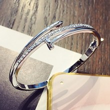 Sale Direct Selling Party Trendy CZ New Bangle Crystal from Swarovski Fit DW Charms Bracelet For Women Diy Jewelry Making(China)