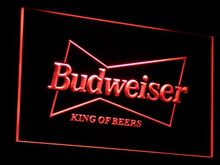 a009 Budweiser King Beer Bar Pub Club LED Neon Sign with On/Off Switch 7 Colors 4 Sizes to choose(China)