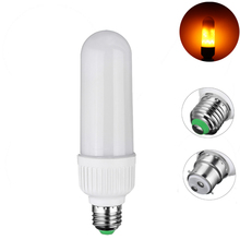 Best Promotion 5W 2835 SMD 99 LED Lamp Bulb E27 B22 1800K Yellow Flickering Flame Fire LED Light Bulb Corn Light Bulb AC85-265V(China)