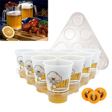 Top Board Games Beer Pong Kit Party Fun 22 Cups 3 Balls For Adult Freinds Table Drinking Game Pub Bar BBQ Gift Entertainment(China)