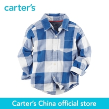 Carter's 1pcs baby children kids Checkered Button-Front Shirt 243G874,sold by Carter's China official store