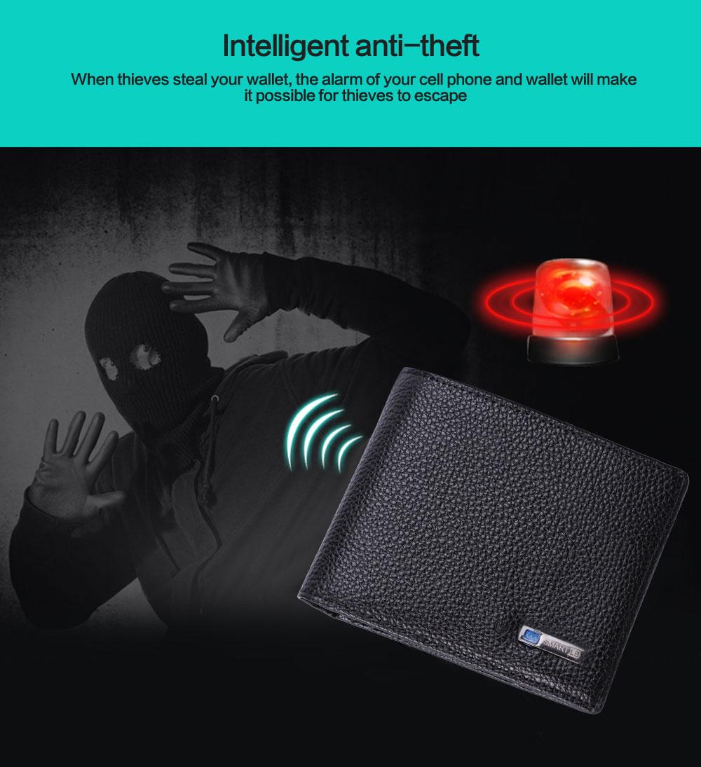 محفظة جلدية ذكية مضادة للضياع مع جهاز تتبع مربوط بالهاتف عبر البلوتوث 3