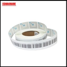 1000 piece barcode security label adhesive eas soft label 4cmX4cm for RF8.2Mhz eas system(China)