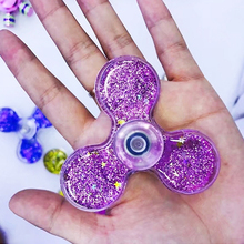 Crystal Ball Quicksand Glitter Star Sequins Tri Hand Spinner Finger Toy EDC Toy