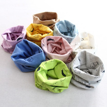 New Kid Warm Scarves Multi-Use Lovely Small Fish Printing Cute Scarf for Baby Head Scarf Bandanas Ponchos Capes(China)