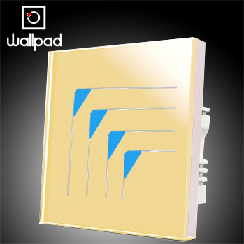 Free Shipping,Wallpad 4 Gangs 2 Way New Style Wall Touch Switch,Luxury Gold Crystal Glass Wall Light Touch Light Switch 110~250V<br>
