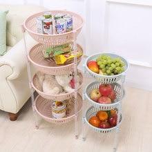 3/4 Layer DIY Foldable Plastic Shelf Kitchen Draining Basket Storage Rack Holder Fruit Vegetable Storage Home Bathroom Organizer