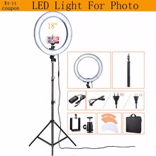 48CM 240pcs LED Photography Video Photo Studio 55W 5500K Daylight Diva Selfie Ring Lamp Light with 200cm Tripod Stand Lighting