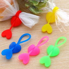 Family Home Green Loving Silicone Plastic Food Bag Sealing Clip Tie Beam Port Bundling Multiple Installation(China)