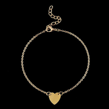 Simple Sexy Foot/Leg/cheville Chain Anklets Bracelets Heart Shape Fashion Brand Vintage Jewelry For Women