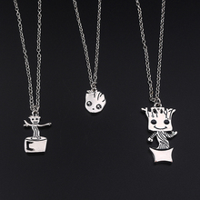 New Fashion Movie Guardians of the Galaxy dancing baby groot necklace pendant men and women jewelry factory outlet