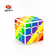 Buy YONGJUN 2017 New Magic Cubes Different Height 3x3x3 Speed Fidget Puzzle Cube Colorful Educational Brain Teaser Toys Children for $3.42 in AliExpress store