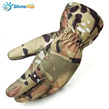 ShineTrip Camouflage Finger Skiing Gloves Soft Shell Fabric Fleece Outdoor Gloves For Autumn Winter Tactical Army Combat Gloves