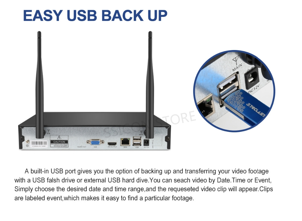 EASY US BACK UP IP CAMERA WIRELESS
